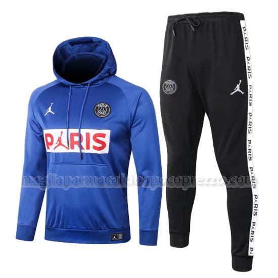 felpa paris saint-germain blu 2020