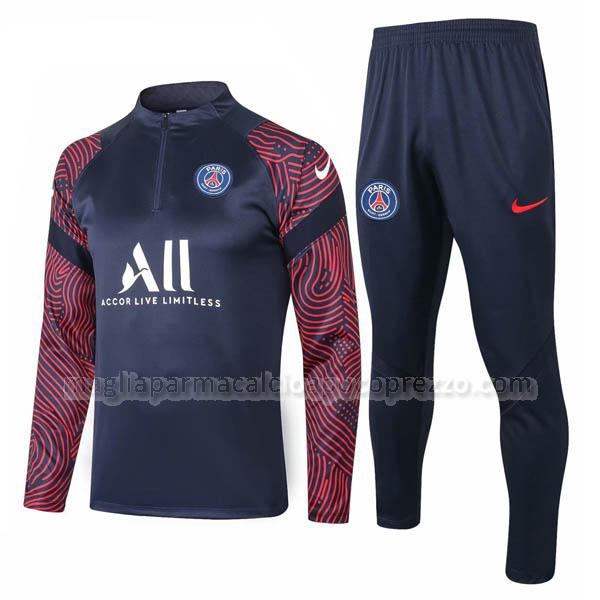 felpa paris saint-germain blu navy 2020-21